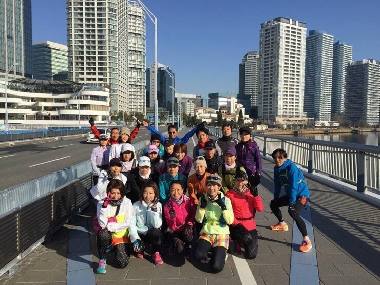 横浜のフルマラソン試走会